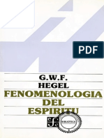 Fenomenologia Del Espiritu - Hegel