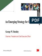 3M, Una Estrategia Emergente Para El Crecimiento I