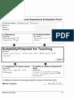 evaluation form primary