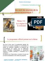 Thème 112- Les Sources de La Croissance 2014-2015
