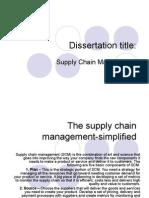 Supply Chain Management Dis Sera Tat Ion final presentation