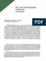 Acerca de Las Funciones Del Derecho en America Latina