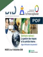 Présentation-Séminaire Contrôle Interne Niger