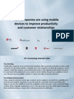 Using Mobile Devices to Improve Productivity and Customer Relationships