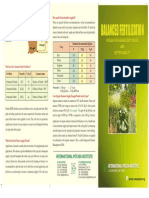 Balanced Fertilization and Potash Brochure