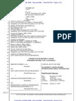 Prop 8 Challenge Plaintiff's Witness List