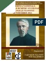 Afis Conferinta Pr. D. Staniloae