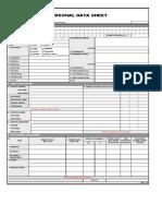 Form 212- Revised PDS Form