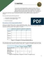 Responsibility matrix (Matrica odgovornosti)