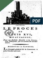 1793 J'Attends Le Procès de Louis XVI..
