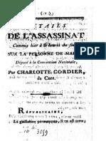 Lebois, René-François 1793 Assassinat de Marat