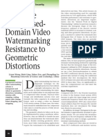 Real-Time CompressedDomain Video Watermarking Resistance to Geometric Distortions