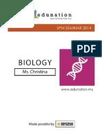 SPM Seminar 2014 - Biology