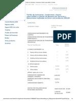Tarifas de Comisiones, Condiciones y Gastos Repercutibles a Clientes