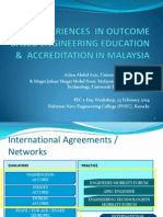 Experiences in Outcome Based Engineering Education-Accreditation in Malaysia