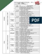 JDEN-2014 CRONOGRAMA DE PARTIDOS CATEGORIA A