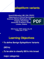 Benign epileptiform variants in EEG