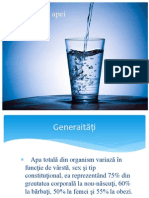 Metabolismul Apei - Stegeran - Petrica