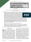Entrepreneurs and Entrepreneurship in Developing Countries