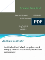 Analisis Kualitatif Kation-Anion