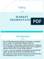 Unit 5 Segmenting and Targeting Market (Printed)