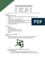 centripetal acceleration lab report