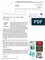 SAP Tutorials_ Top 10 Free SAP Tutorials - SAP Certification