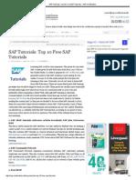 SAP Tutorials_ Top 10 Free SAP Tutorials - SAP Certification