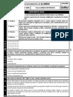 PM ALUMÍNIO - PS 4-2009 - MÉDICO ORTOPEDISTA
