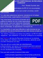 Desarrollo de Competencias en RR HH  (Transparencias)