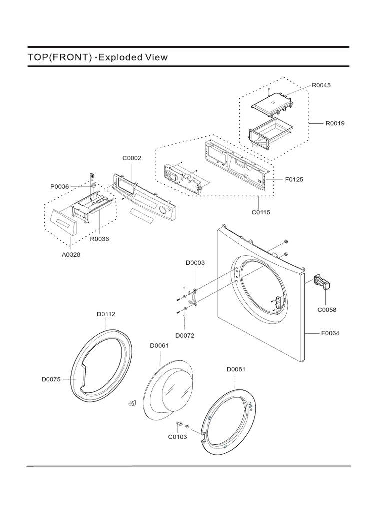 Samsung j 1045avw Explded View Parts List