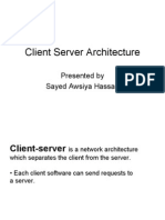 Client ans server  Architecture PPT