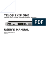 Telos ZIP ONE Manual v1.9.0r Print File