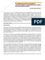 Religião e Afirmação Étnica No Brasil Contemporâneo