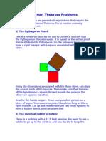 Pythagorean Theorem Problems