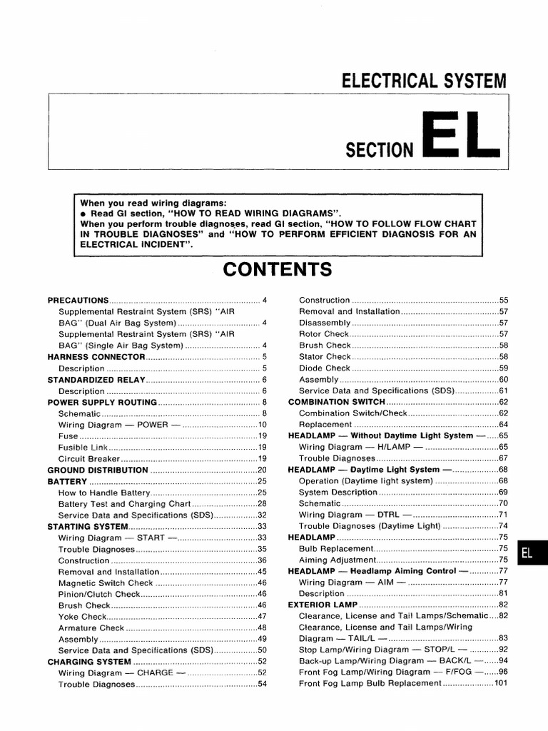Manual De Taller Nissan Almera N15 Electrical Systempdf Airbag Circuit Breaker Wiring Schematic Battery Electricity