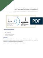 ¿Cómo configurar mi AP para que funcione en el Modo Client_ - Bienvenido a TP-LINK.pdf