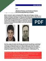 Strafanzeige Wegen Betrug Gegen Manfred Klamm Andreas Klamm