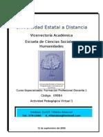 Actividad Pedagógica Virtual 1 FD12
