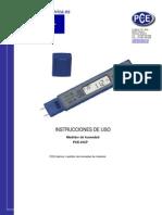 Manual Medidor Humedad PCE HGP