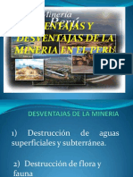 Diapositiva de Ventajas y Desventajas de La Mineria