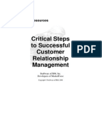 Critical Steps-To Successful CRM