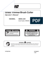Echo Trimmer Srm210 Manual