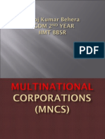 A ppt on multinational corporation