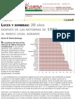 Luces y Sombras- 20 Años Después de Las Reformas de 1992 Al Marco Legal Agrario