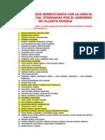Narco Indultados por Ollanta Humala
