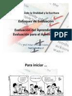 Evaluación de La Oralidad y La Escritura. Enfoques y Tipos de Evaluación