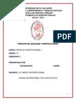 Trabajo Derecho Constituciona i 2 Periodo