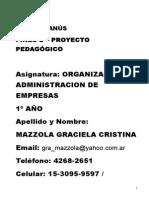 Proyecto Org y Adm de Empresas. Sad Lanús Plan Fines Se Cundaria II