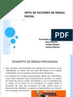 Diapositiva Concepto de Factores de Riesgo Psicosocial